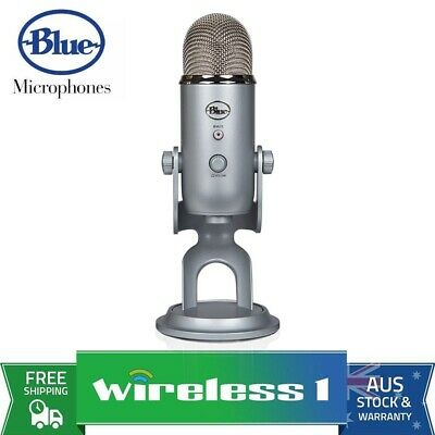 Brand New Blue Microphones Yeti 3-Capsule USB Microphone - Silver