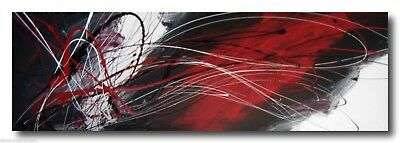 ABSTRACT CANVAS PAINTING red black. Modern wall art artwork Australia