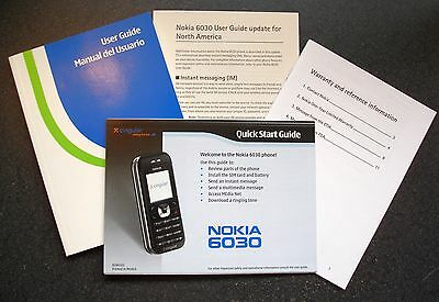 Nokia 6030 Cell Phone User Guide Manual Warranty Quick Start Instructions OEM