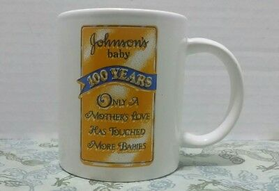 Johnson's Baby 100 Years Collectiblr Coffee Mug Advertising Only A Mother's Love