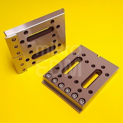 Wire EDM Fixture Board Stainless Jig Tool For Clamping & Leveling 120x100x15 mm