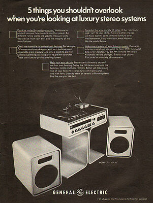 1973 vintage AD G.E.  General Electric Sereo Phonograph  Model C771  011516