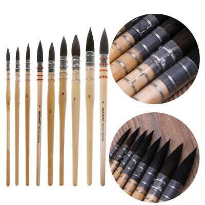 Handmade Squirrel's Hair Artist Watercolor Paint Brush For Watercolor Art Supply