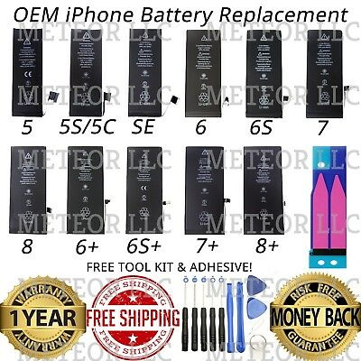 OEM Original Replacement Internal Battery for iPhone 5 5C 5S SE 6 6s 7 8 X Plus