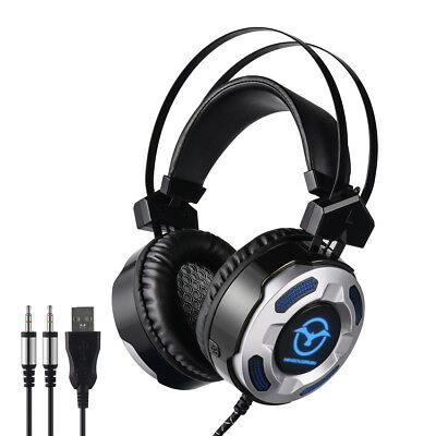 35.mm Gaming Headphone Headset Microphone and Volume Control for Xbox PC PS4