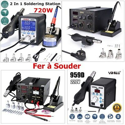 Fer à Souder Station de Soudage Air Chaud Soudure Électrique SMD LED 100℃-480℃