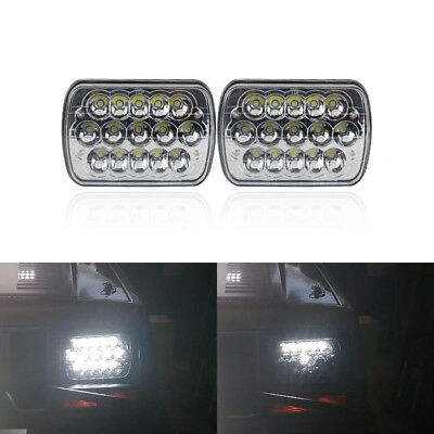 """45W 7""""x6"""" H4 Hi/Lo Led Headlight Assembly Kit For Jeep Cherokee GMC H6014/H6054"""