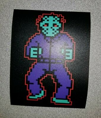 Jason Voorhees NES sticker. 4  x 5. (Buy 3 stickers, GET ONE FREE!)