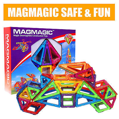 62Pcs Magmagic Challenger Magnetic Construction Building Toys Set Magnets Blocks