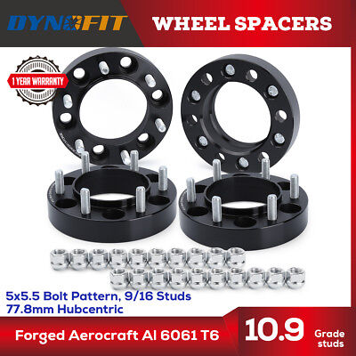 4x 1.5'' Dodge Wheel Spacer Adapter Hubcentric 5x5.5 139.7mm 9/16-18 Ram 1500