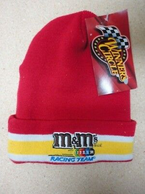 M&M / M&M's  New Red Stocking Cap Racing Team w/Tags