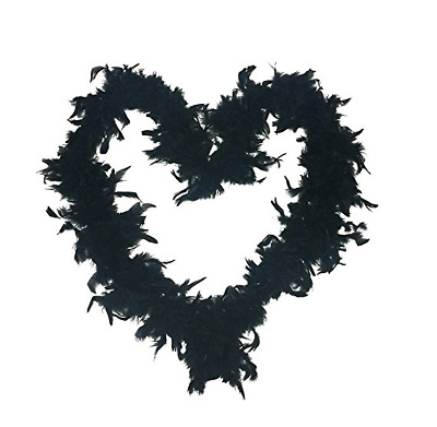 2m Feather Boa Fluffy Costume Carnival Scarf Props Party Decoration Black