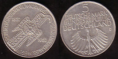 "5 DM Gedenkmünze "" Germanisches Museum 1953 """