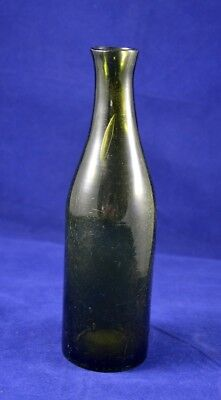 ANTIQUE GERMAN BOTTLE GREEN GLASS RARE 19th century