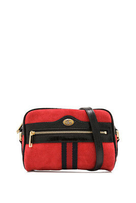 6de402708 AUTH GUCCI GG Web Stripe Ophidia Small Shoulder Bag Hibiscus Red ...