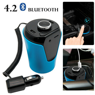 Auto Wireless Bluetooth TRASMETTITORE FM Lettore KIT MP3 Vivavoce USB TF Carta
