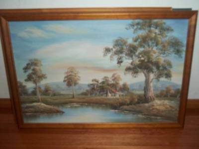 OIL PAINTINGS x 2 painted by original artist Timber frame
