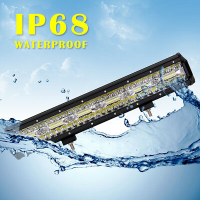 "20.3"" 105000LM 3030 LED Light Bar Flood Spot Combo Beam Offroad Work Lamp 700W"