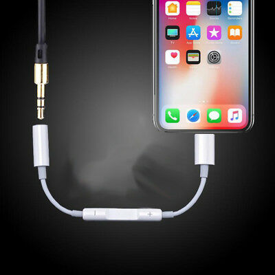 Lightning To 3.5mm Headphone Adapter Cable For Apple iPhone 8 /  8 Plus iPhone X