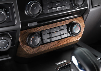 New Wood grain Switches Panel Air Conditioner Cover Trim For Ford F150 2015-2018