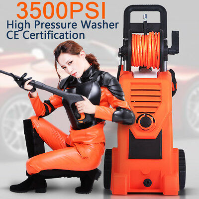 3500 PSI Electric High Pressure Cleaner Washer Gurney Water Pump Hose Cleaning