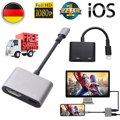Lightning auf zu AV HDMI TV Kabel Adapter Für Apple iPhone 6 6S 7 8 Plus X iPad
