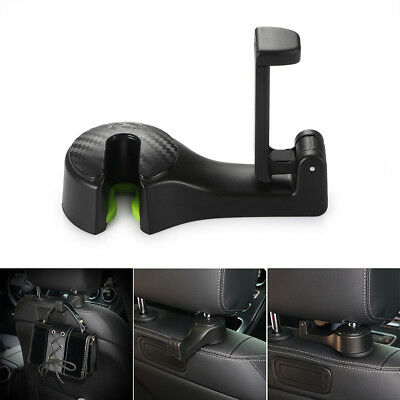 Black 2 in 1 Multi-function Car Back Seat Phone Holder Headrest Hanger Hook