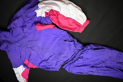 Trainings Anzug Track Suit Nylon Glanz Shiny Fasching Bad Taste 90er 90s Party L