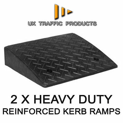 Pack of 2 - HEAVY DUTY Kerb Ramps (Perfect for HGV use)