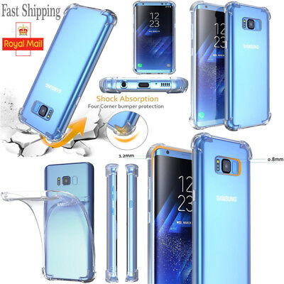 CLEAR Case For Samsung Galaxy S10 Plus S10e S9 S8 Silicone Gel Shockproof TOUGH
