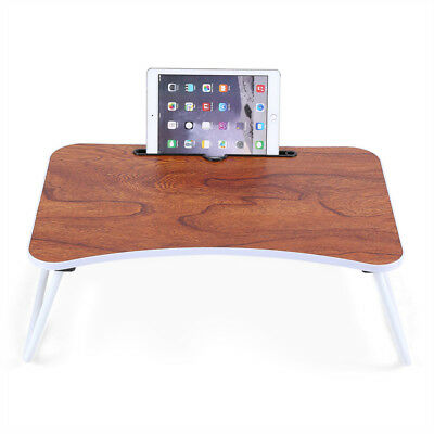 Portable Folding Bamboo Laptop Table Sofa Bed Office Laptop Stand Desk Computer