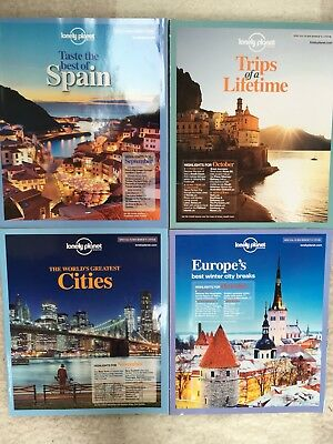 2011 Lonely Planet Traveller Magazines September To December Issues 33-36