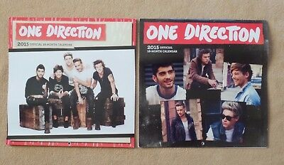 One Direction 2015 18 month Calendars (2) 12 x 12, 20+ group & individual photos
