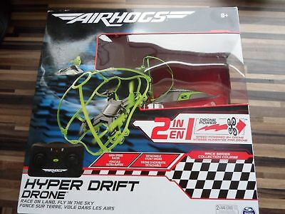 Air Hogs 2 In 1 Hyper Drift Drone R C Remote Control Spinmaster Green NEW