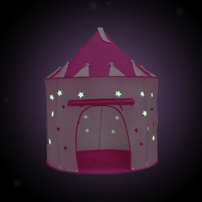Rose Pliant Luminescent Mongolie Pop Up Playhouse Princesse Château Tente