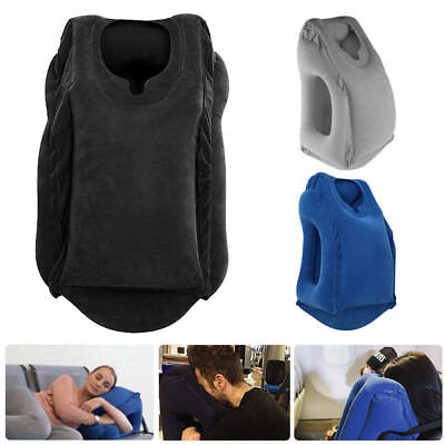 Travel Neck Pillow Inflatable for Airplanes Flight Cervical Support Head Rest