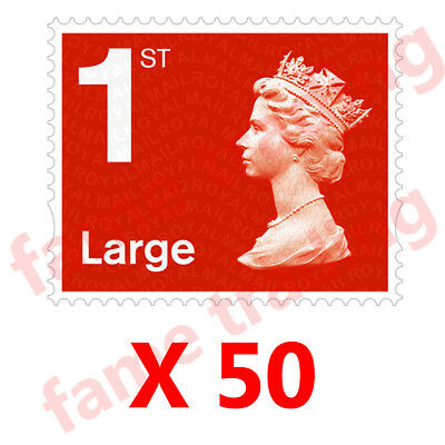 Royal Mail 1st Class Letter Large Self Adhesive Postage Stamps X 50