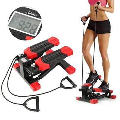 LCD Mini Stepper Legs Arm Thigh Toner Workout Fitness Machine Stair Steps Train