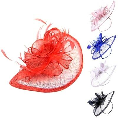 Ladies Large Headband Aliceband Hat Fascinator Weddings Day Race Royal Ascot