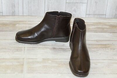 a18c2dcb1 Aerosoles Double Trouble 2 Leather Ankle Boots, Women's Size 5 M, Brown NEW