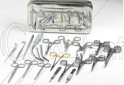 Surgical Tracheotomy Set , Plastic Surgery Set , Tissue Dissection Set in Box