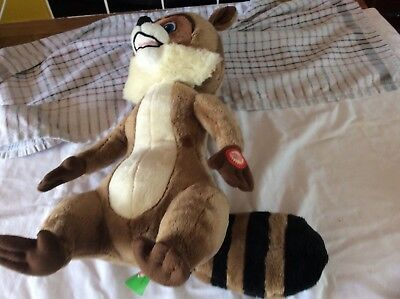"""Dreamworks Over The Hedge Talking RJ Racoon Character Toy 14"""""""