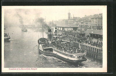 AK Glasgow, Steamboat at the Broomielaw, Dampfer