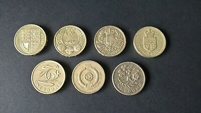 Various Rare Old £1 One Pound Coins