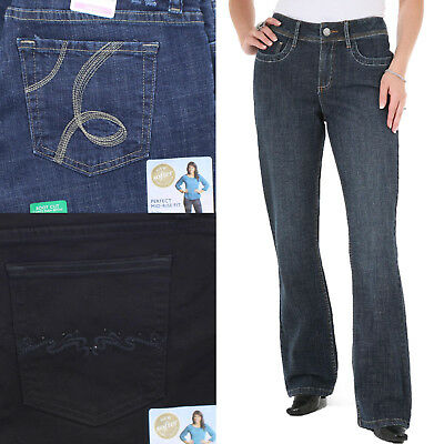 7fb6eaf1 RIDERS BY LEE Women's Comfort Waist Mid Rise Boot Cut Jeans ...