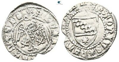 Savoca Coins Italy Medieval Silver Coin 0,60g/17mm $KBP3184