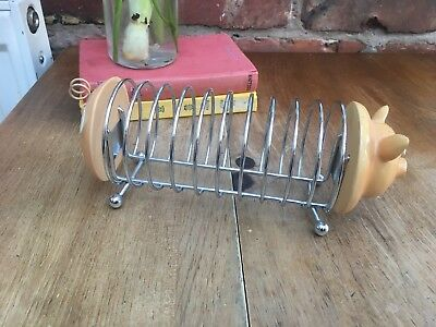 Novelty Pig Toast Rack Ceramic/steel
