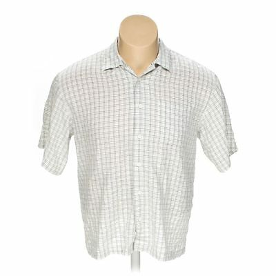 686f3803 HAGGAR MEN'S Button-up Short Sleeve Shirt, size M, turquoise, white ...