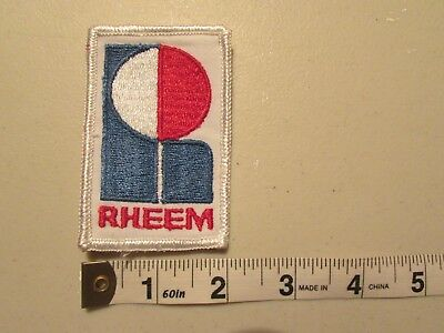Vintage Rheem Hvac  Patch Badge New Old Stock Unused Great For Hat Or Jacket!
