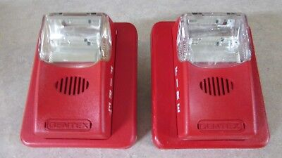 Gentex Fire Alarm Horn Strobe HS24-15/75WR Red Wall Mount - Tested - Free Ship